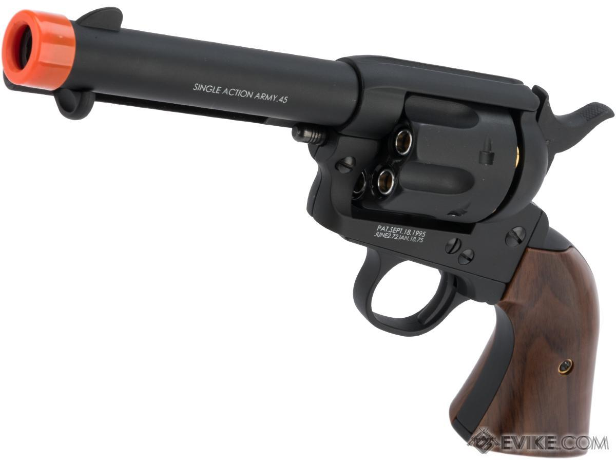 King Arms SAA .45 Peacemaker Gas Powered Revolver (Model: Short Barrel / Dull Black)