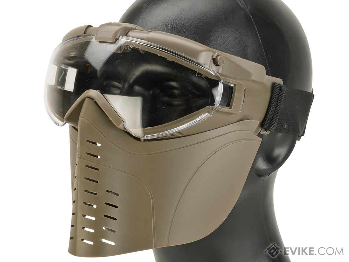 Pro-Goggle Airsoft Full Face Mask w/ Integrated Fan (Color: Desert Coyote)