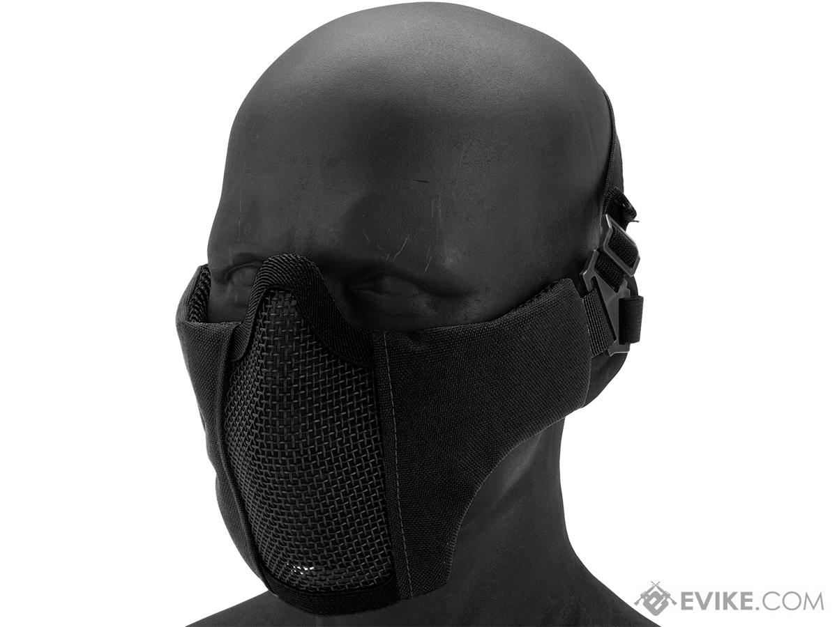 Matrix Low Profile Iron Face Padded Lower Half Face Mask (Color: Black)