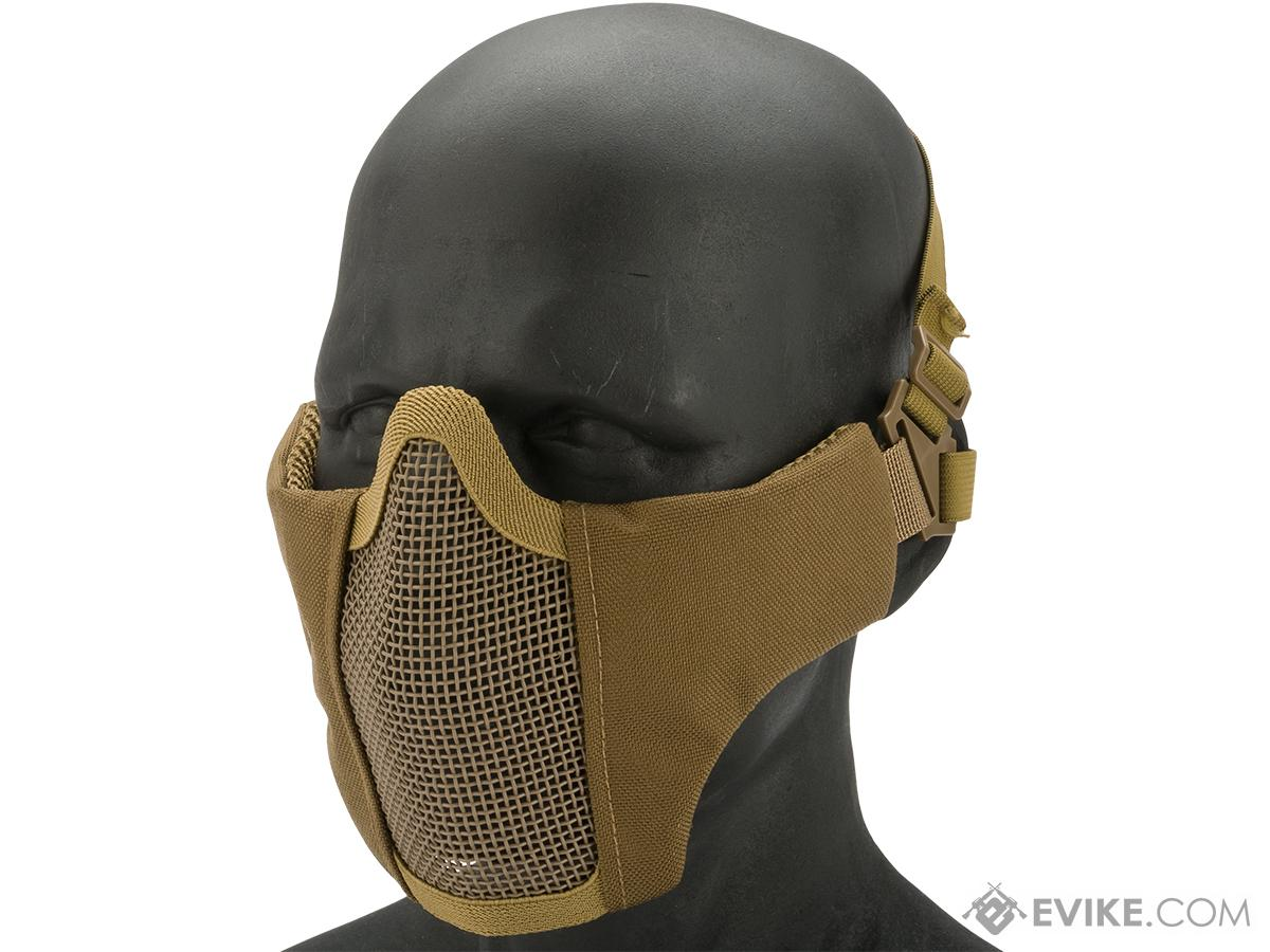 Matrix Low Profile Iron Face Padded Lower Half Face Mask (Color: Tan)