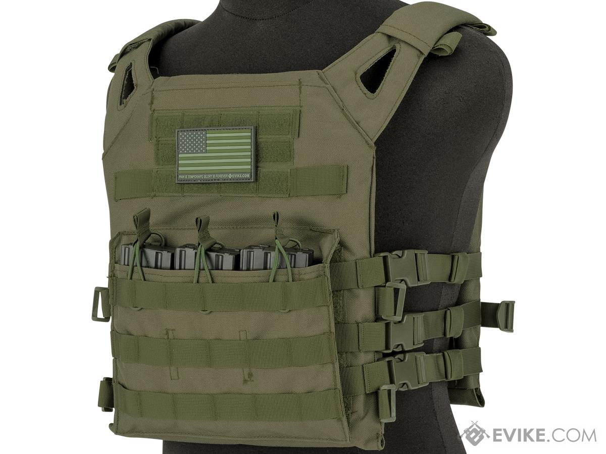 Matrix Level-1 Plate Carrier with Integrated Magazine Pouches (Color: OD Green)