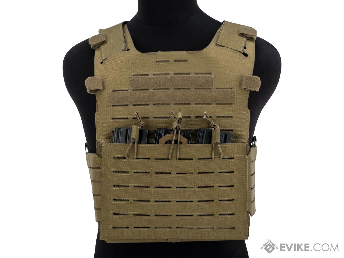 Matrix Fully Laser Cut Plate Carrier Vest with Hypalon (Color: Tan)