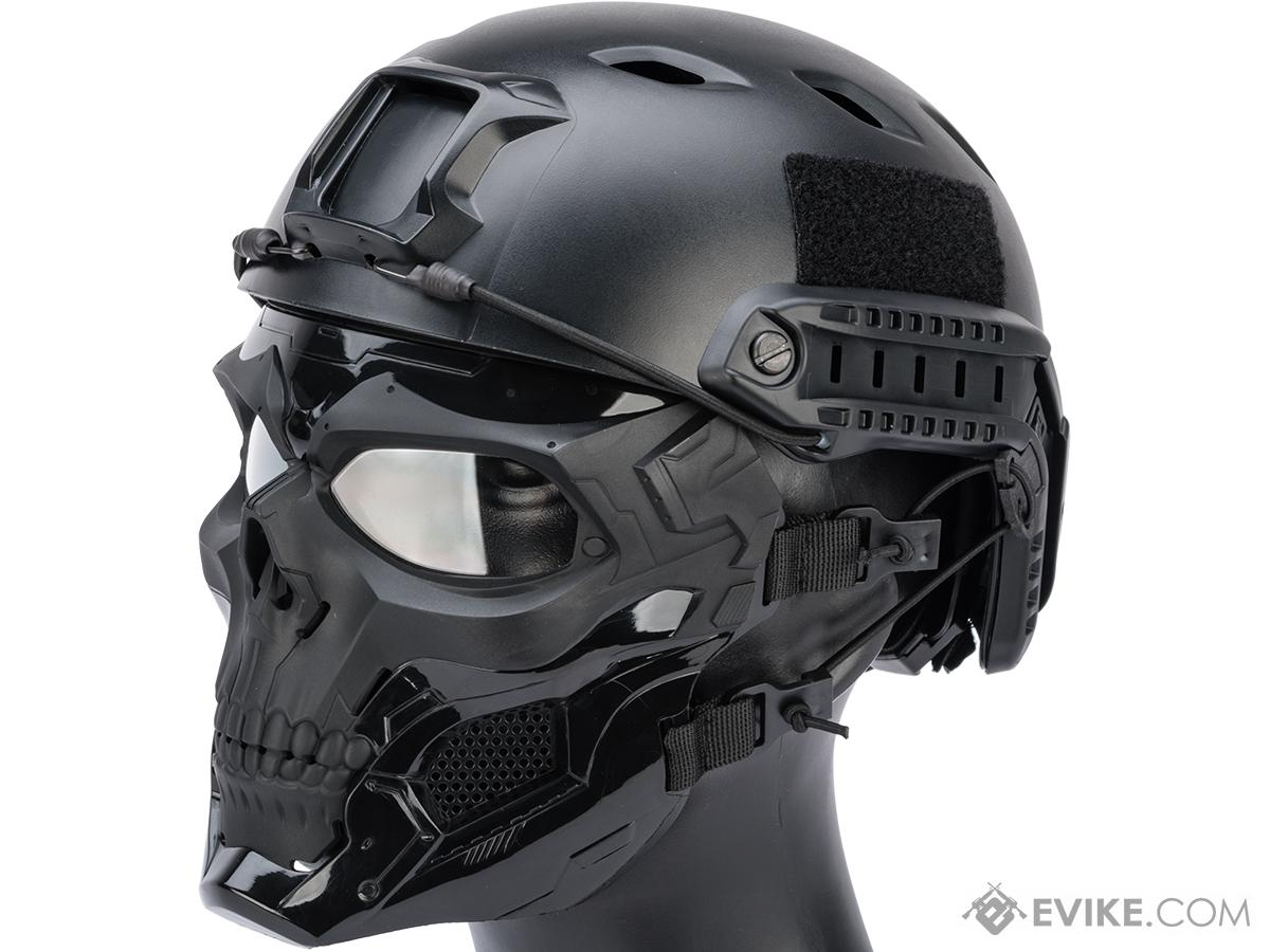 Matrix Skull Messenger Face Mask (Color: Black)