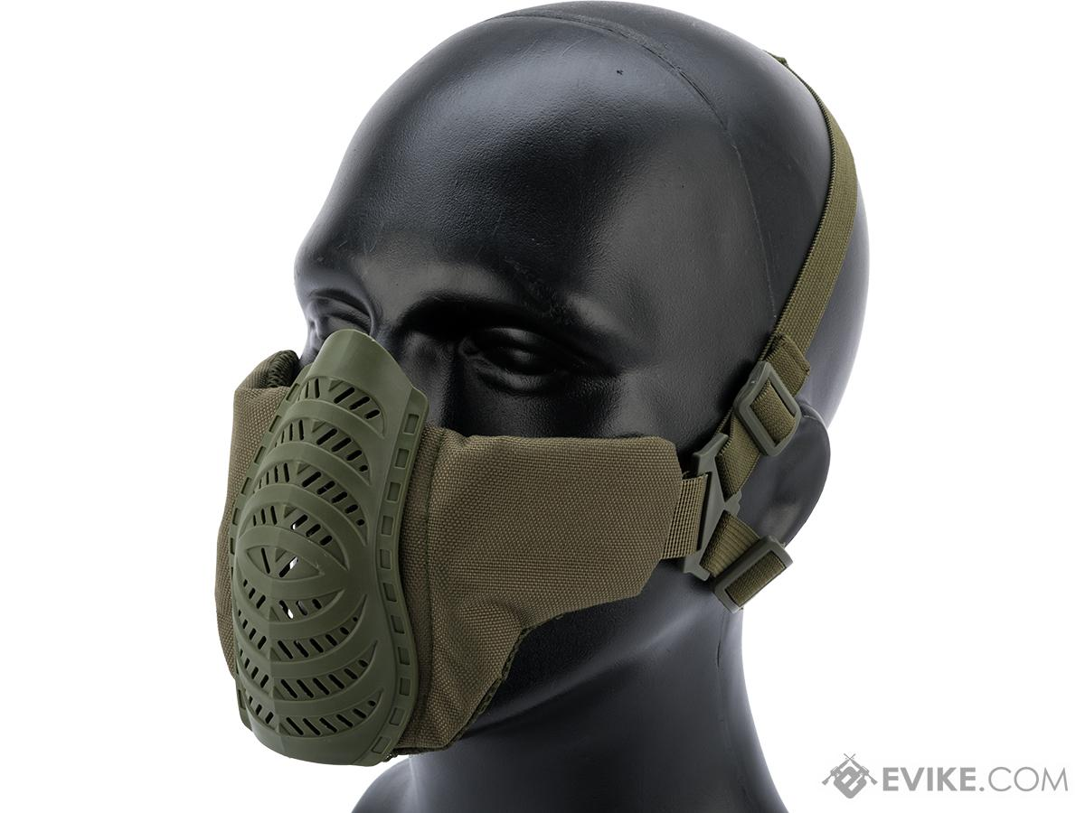 Matrix Low Profile Tactical Padded Lower Half Face Mask (Color: OD Green)