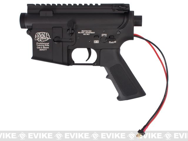 G&P Complete M4 Metal Receiver & Gearbox Airsoft AEG ProKit (G&P USA) (Version: Rear Wire / Black)