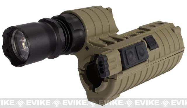Element M4 e500 Tactical Handguard Illuminator w/ Integrated Dual LED for Airsoft - Tan