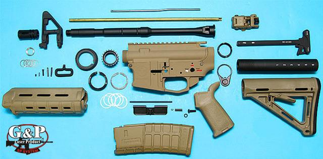 G&P Full Metal M4 WOC GBB Airsoft Gas Blowback Rifle Challenge Kit (Model: Magpul Desert Storm)