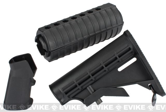 Furniture Kit for M4 Series Airsoft Rifles - Black