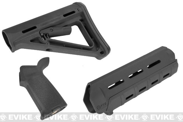 z Magpul PTS MOE Conversion Kit for M4 Series Airsoft AEGs - (Black)