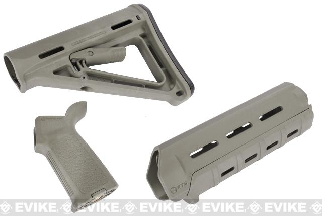 Magpul PTS MOE Conversion Kit for M4 Series Airsoft AEGs (Color: Foliage Green)