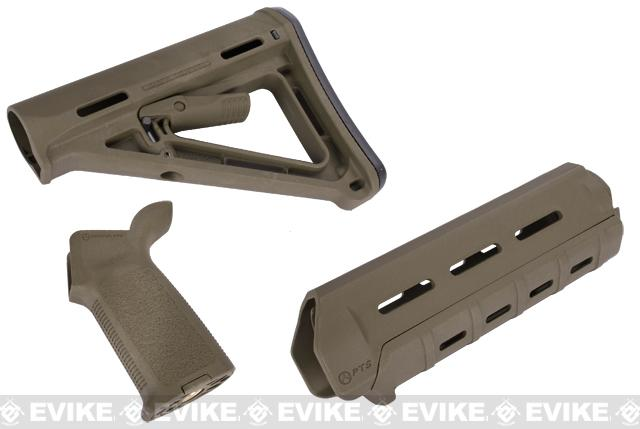 Magpul PTS MOE Conversion Kit for M4 Series Airsoft AEGs (Color: OD Green)