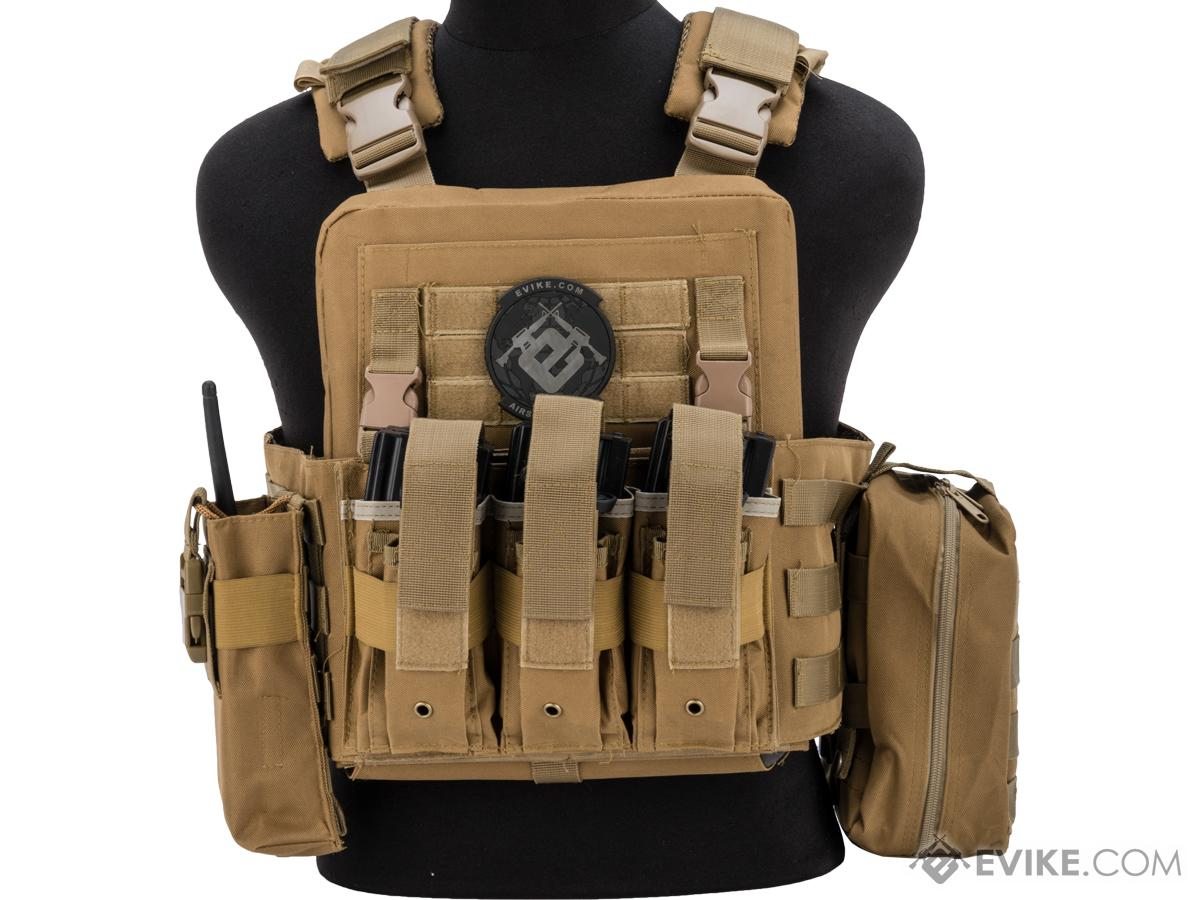 Matrix Adaptive Plate Carrier Vest w/ Cummerbund & Pouches (Color: Tan)