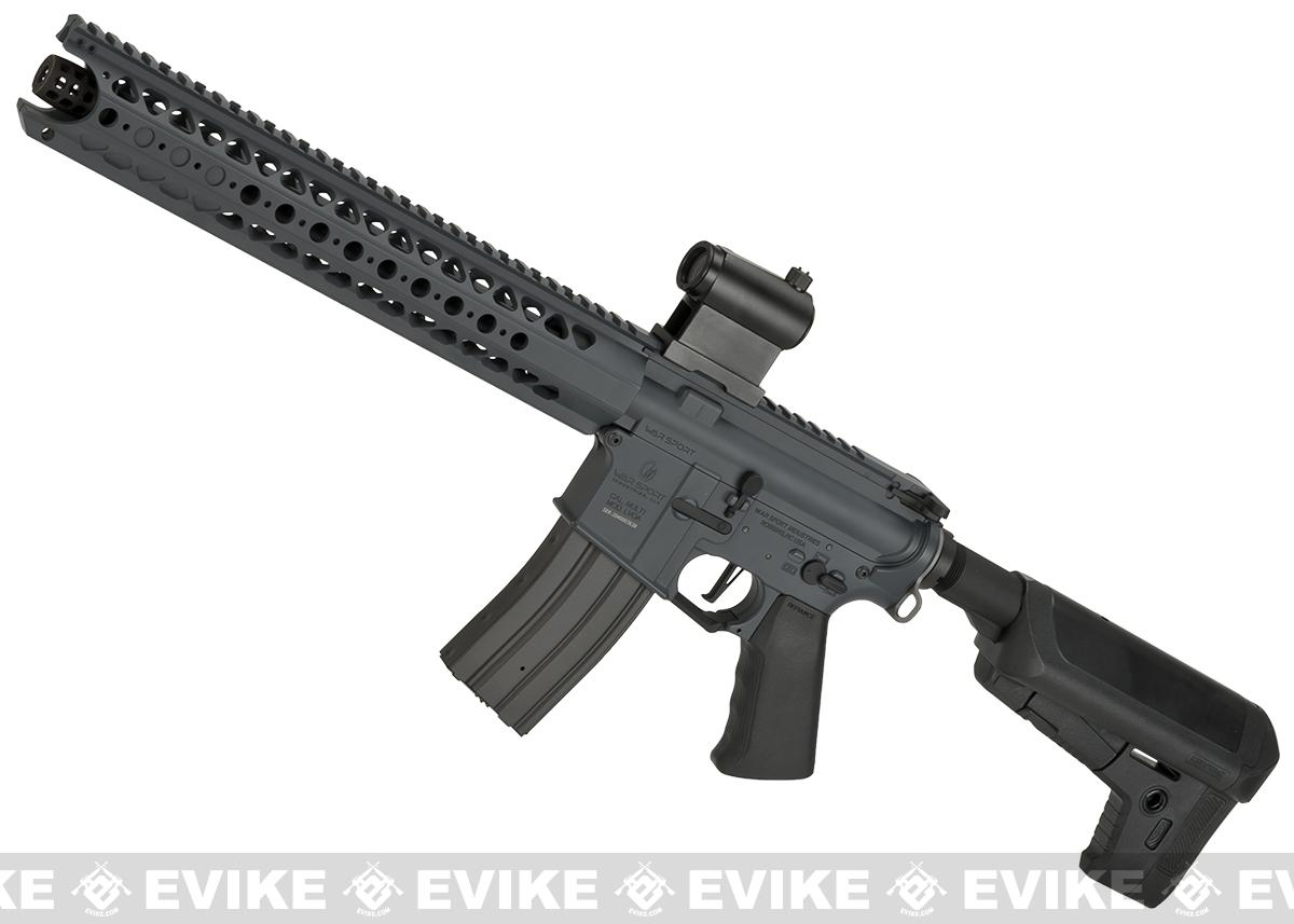 (10 MAGAZINE BUNDLE DEAL) Krytac War Sport Licensed LVOA-S M4 Carbine Airsoft AEG Rifle (Color: Combat Grey)