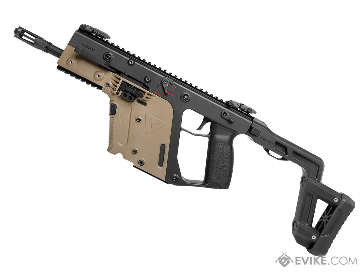 Pre-Order ETA September 2018 KRISS USA Licensed Kriss Vector Airsoft AEG SMG Rifle by Krytac (Model: Stock / Two-Tone)