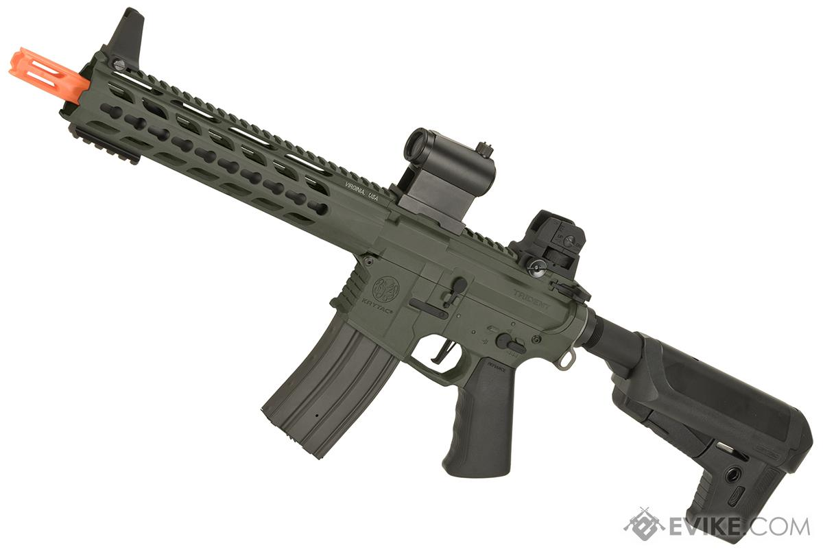 Krytac Full Metal Trident MK2 CRB Airsoft AEG Rifle (Model: Foliage Green)