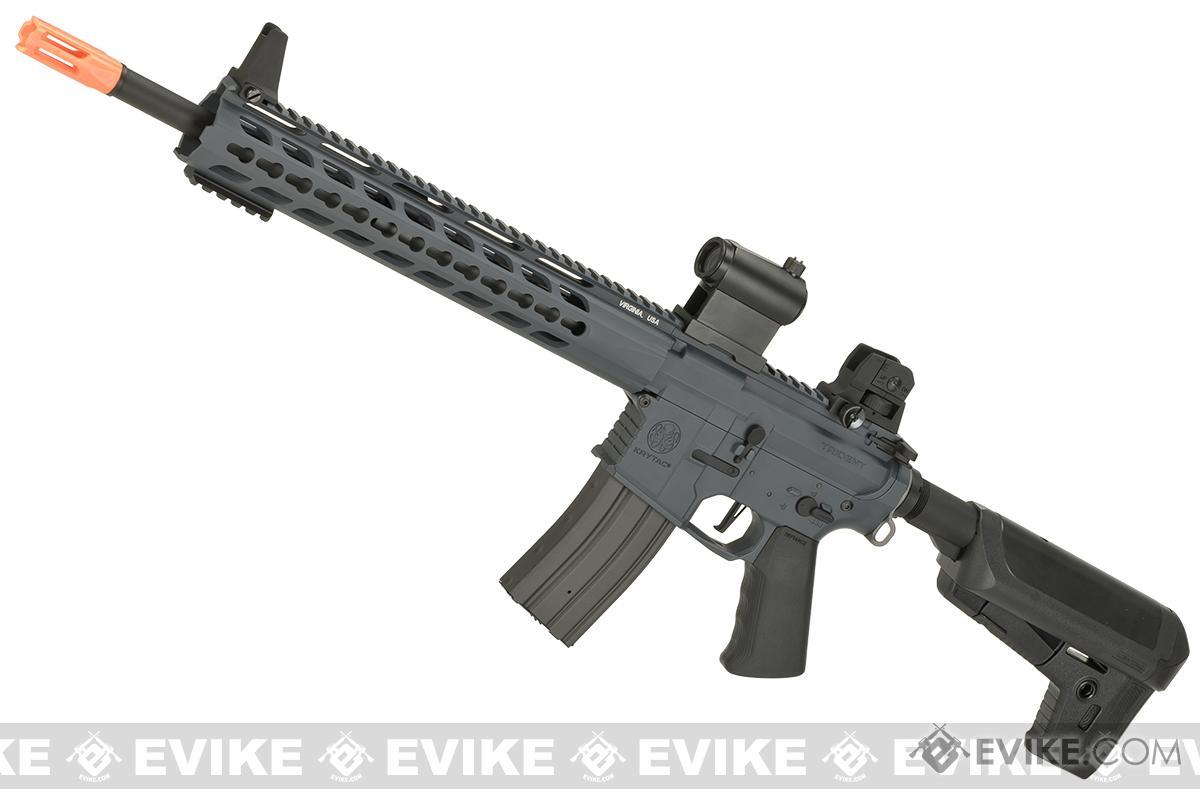 (10 MAGAZINE BUNDLE DEAL) Krytac Full Metal Trident SPR MKII Airsoft AEG Rifle - Wolf Grey Special Edition