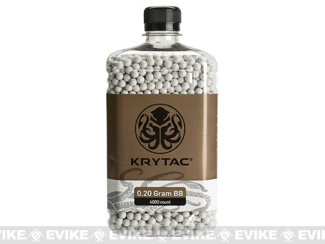 Krytac Polished 6mm Airsoft BBs (Weight: .20g / 4000 / White)