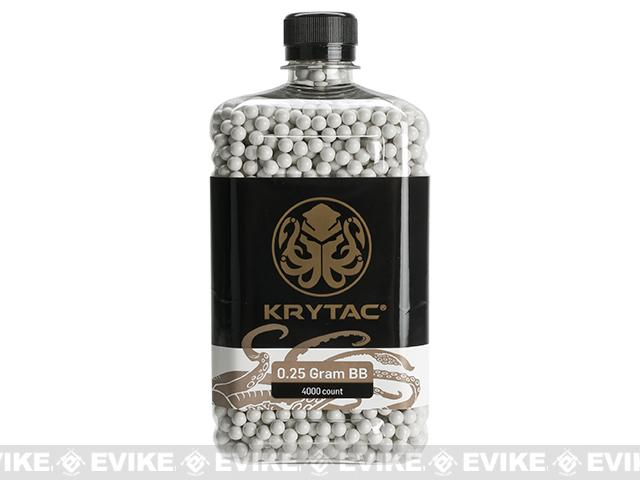 Krytac Polished 6mm Airsoft BBs (Weight: .25g / 4000 / White)
