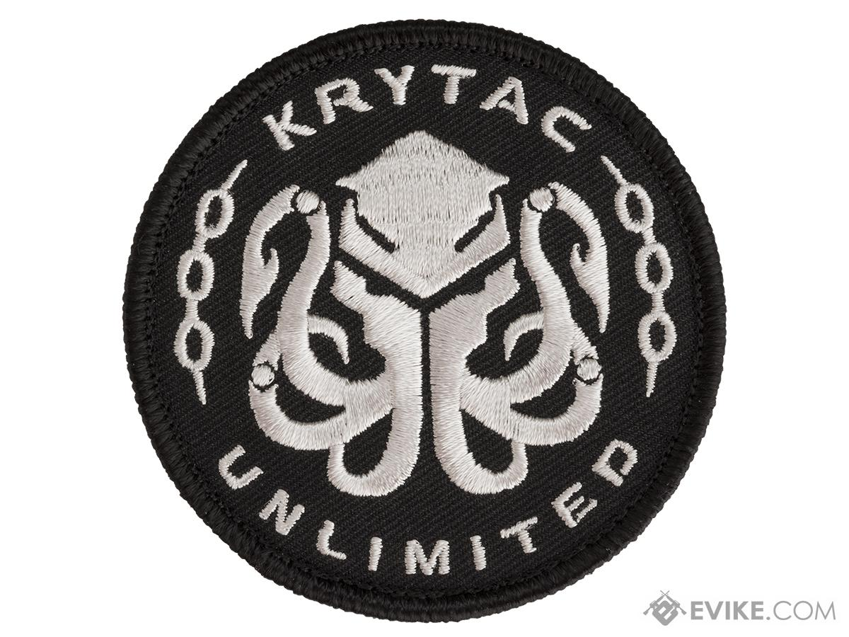 Krytac Embroidered Hook and Loop Morale Patch - Black