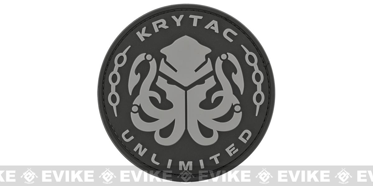 Krytac PVC Hook and Loop Morale Patch - Black