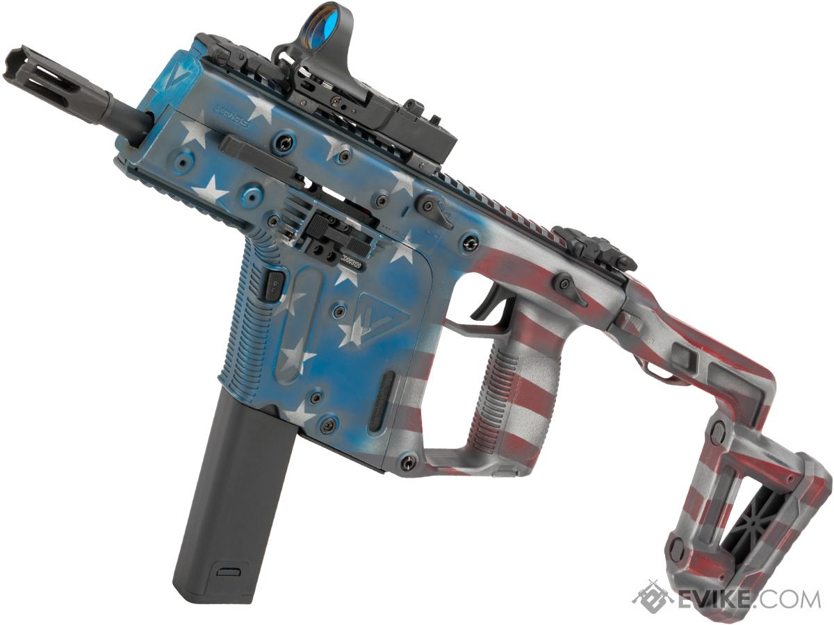 EMG Custom Cerakote KRISS USA Licensed Kriss Vector Airsoft AEG by Krytac (Color: American Flag)