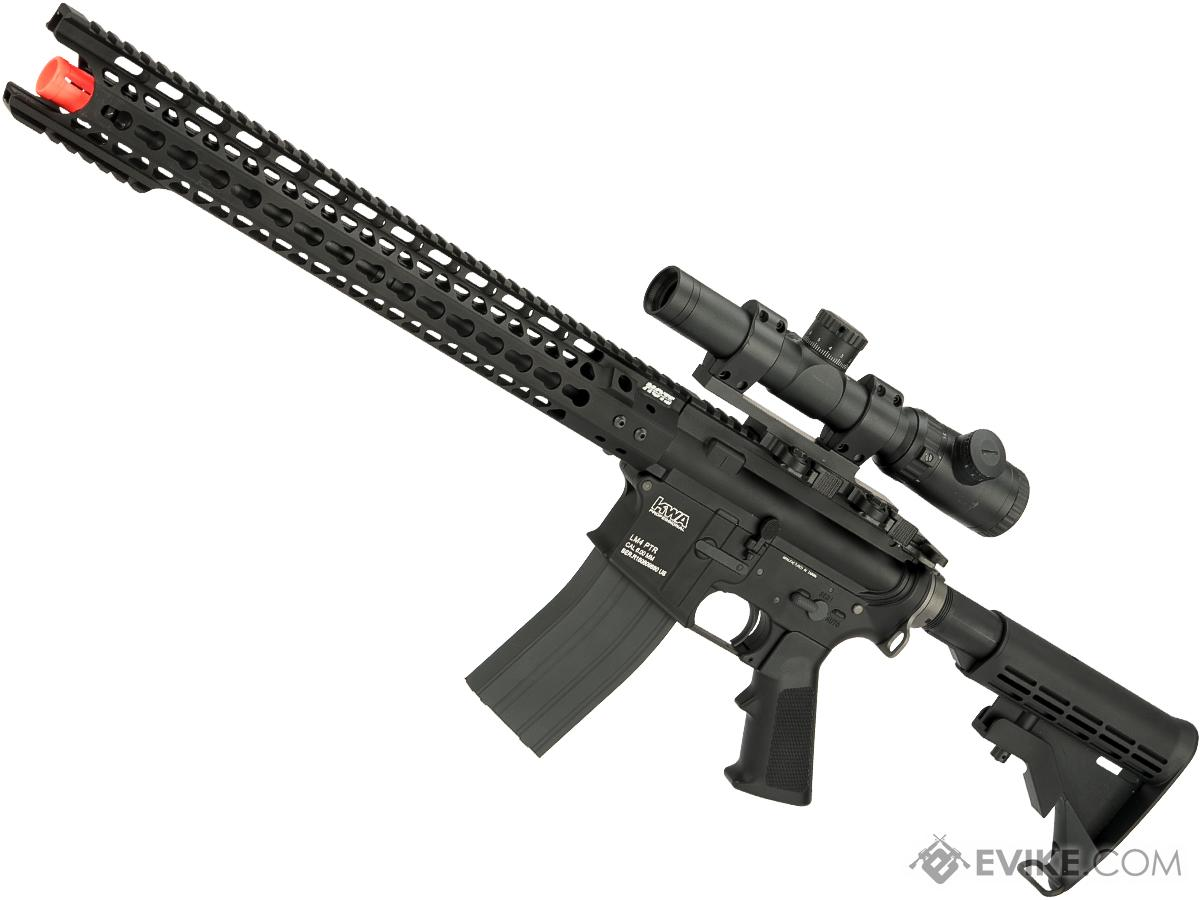 Evike.com Custom KWA LM4 Gas Blowback Rifle with G&P Breacher 16.5 Keymod Handguard