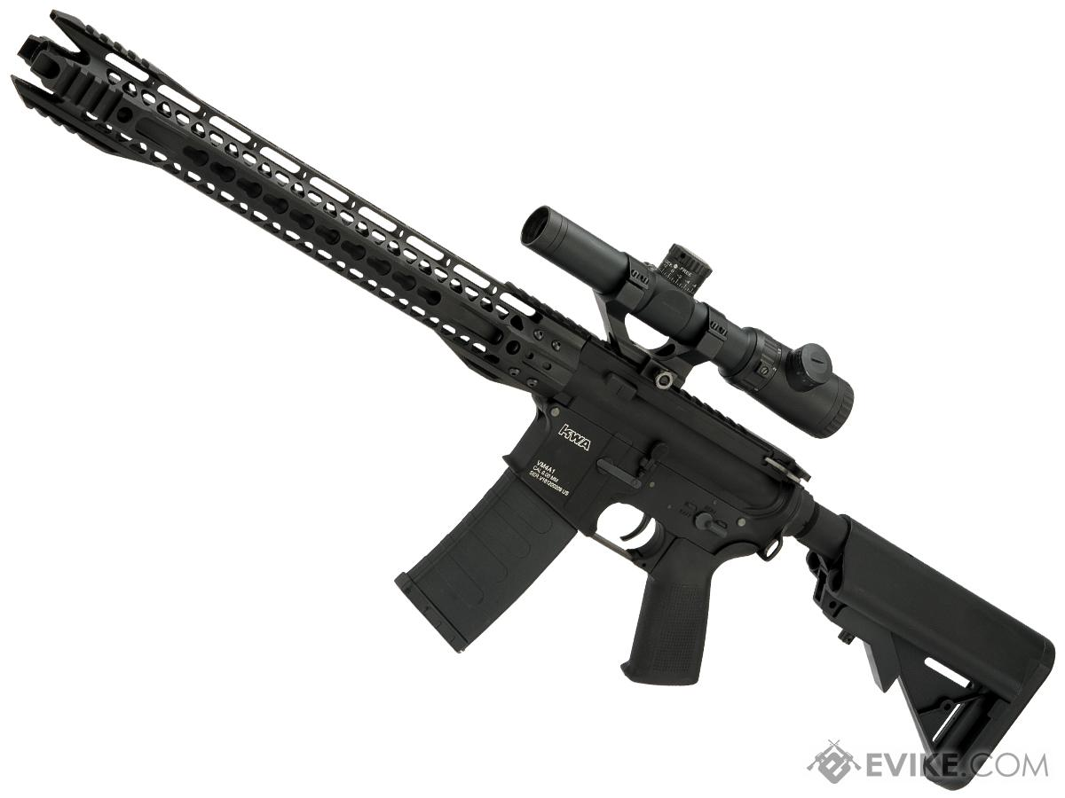 Evike Custom KWA VM4-A1 V2.5 M4 Airsoft AEG with G&P Phantom II 16.2 Keymod Handguard