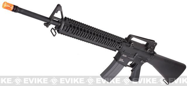 Evike Class I Custom KWA KM16 / M16 Airsoft AEG Rifle - Daniel Defense Omega RIS 12 / Black