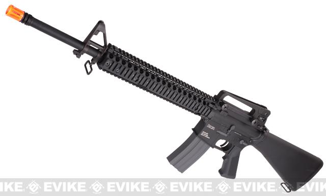 Evike Custom KWA KM16 / M16 Airsoft AEG Rifle - Daniel Defense RISII 12 / Black