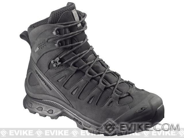 Salomon Quest 4D GTX® Forces Tactical Boots - Black / Asphalt (Size: 13)