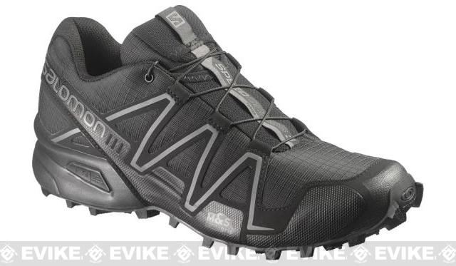 Salomon SpeedCross 3 Forces Running Shoes - Black / Black / Autobahn (Size: 11)