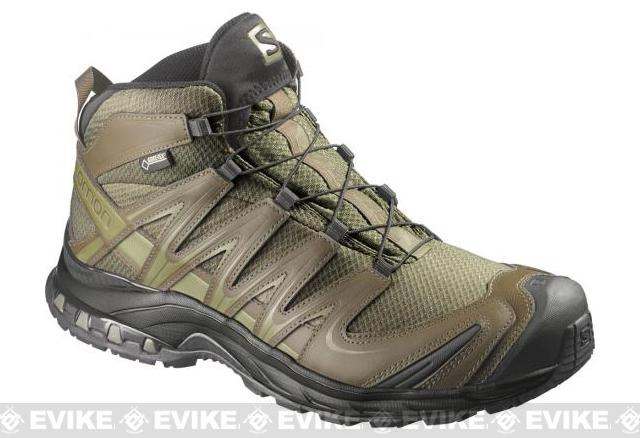 Salomon XA Pro 3D MID GTX Forces 2 Tactical Boots - Iguana Green / Dark Khaki / Iguana Green (Size: 7)