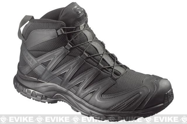 Salomon XA Pro 3D MID Forces Tactical Boots - Black / Black / Asphalt (Size: 12)