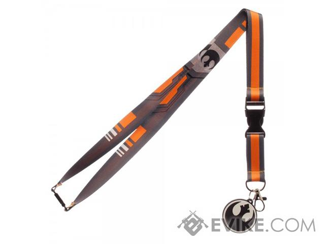 Star Wars Black Squadron Lanyard w/ Medallion & ID / Badge Holder - Orange / Gray