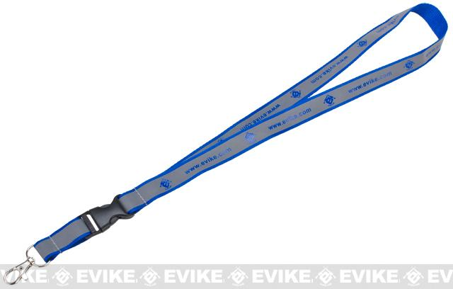 Evike.com Reflective High Visibility Safety Keychain / Lanyard - Blue / Silver