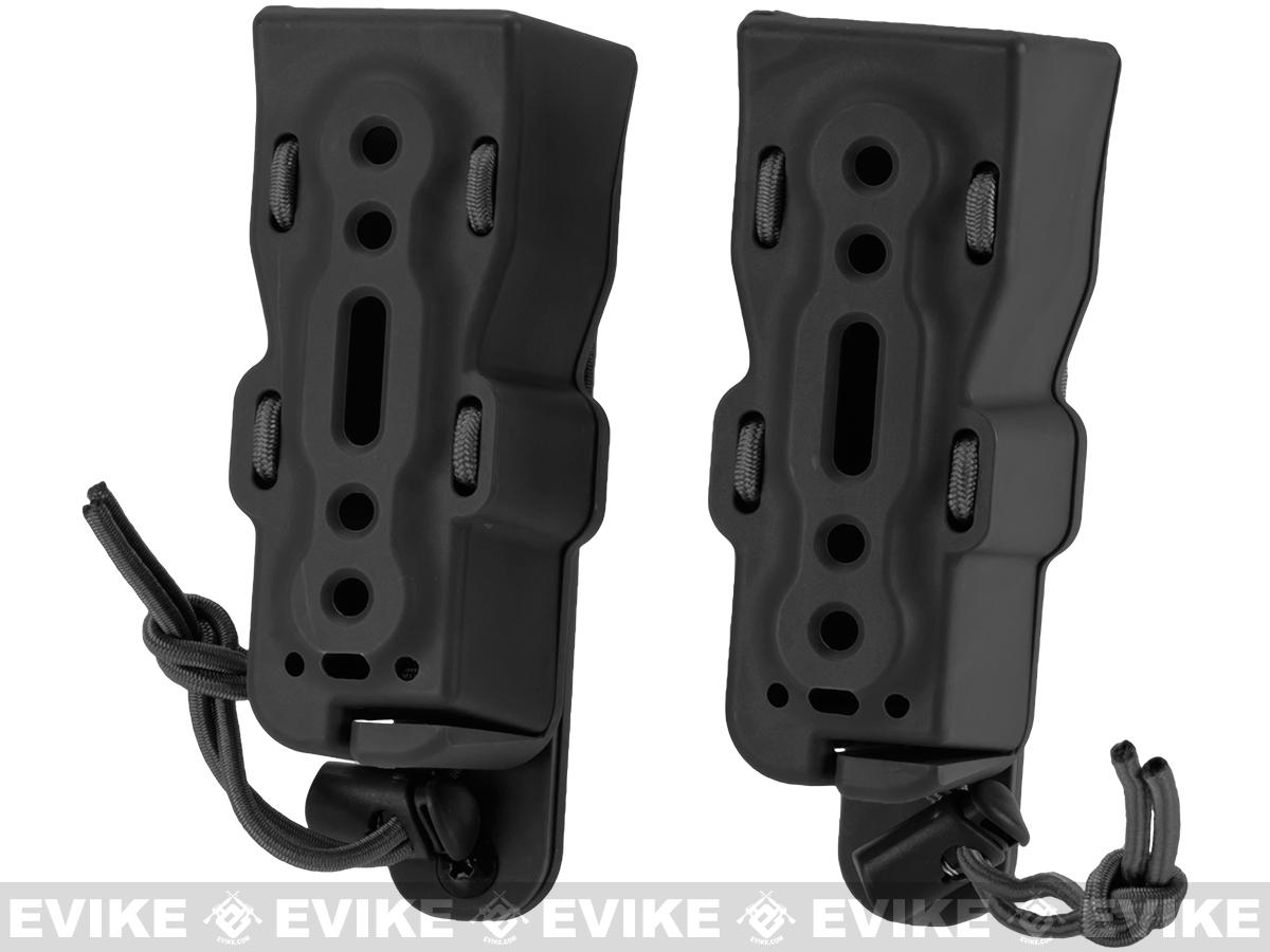 Battle Style Bite-MG Pistol Hardshell Magazine Pouch - Black (Set of 2)