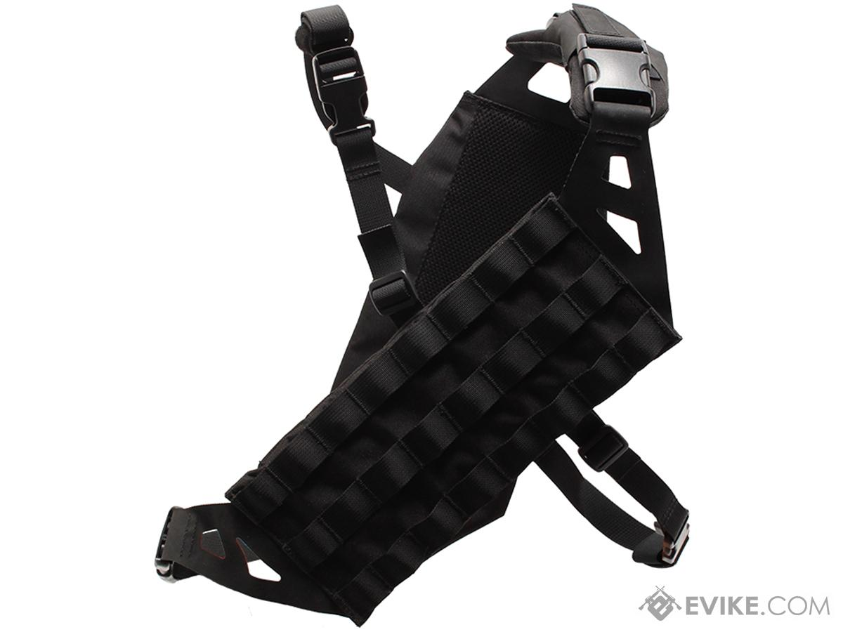 Laylax Lightweight Cross-Chest MOLLE Bandolier (Color: Black)