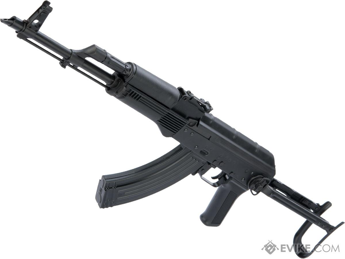 LCT Stamped Steel AKMS EBB AEG Rifle w/ Steel Underfolding Stock (Model: Black Polymer Furniture)