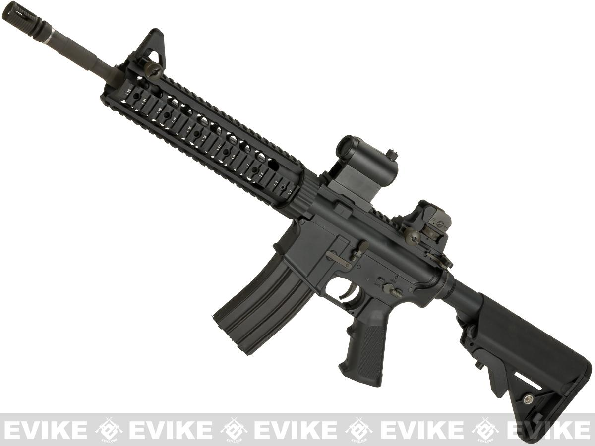 LCT Airsoft LR-4 RIS Airsoft Electric Blowback AEG with 10 Hanguard