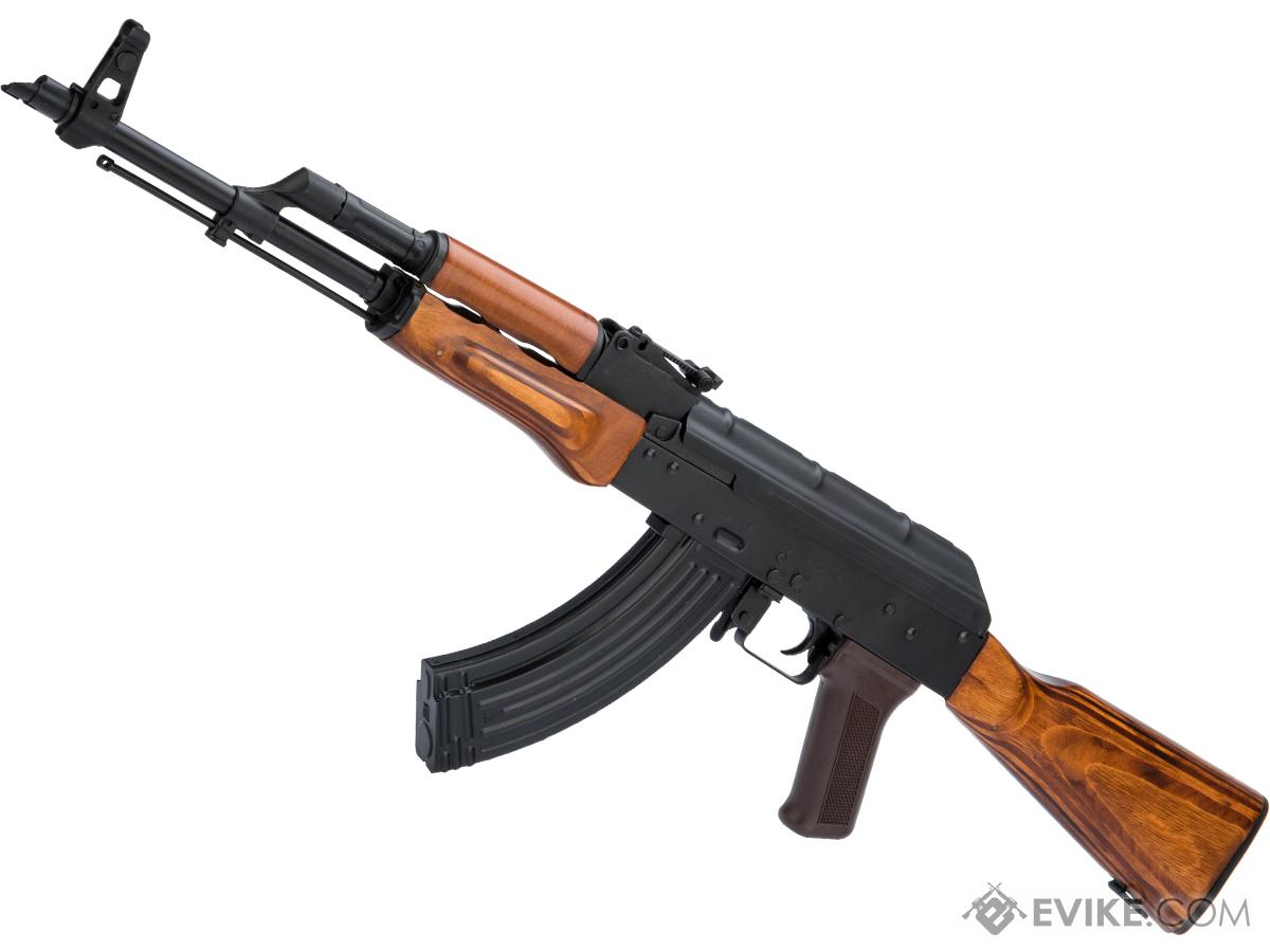 LCT AKM Steel Airsoft AEG Rifle w/ Full Stock (Style: Wood Furniture)