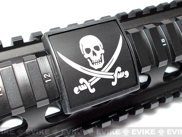 Custom Gun Rails (CGR) Small Laser Engraved Aluminum Rail Cover - Calico Jack