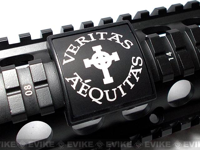 Custom Gun Rails (CGR) Small Laser Engraved Aluminum Rail Cover - Veritas Aequitas