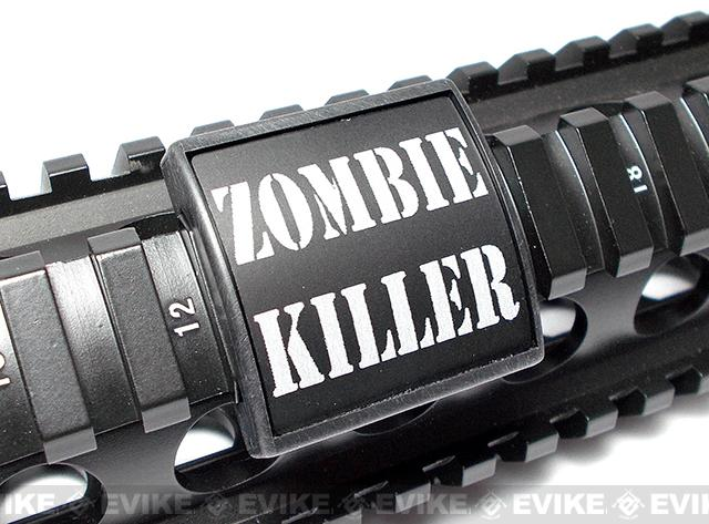 Custom Gun Rails (CGR) Small Laser Engraved Aluminum Rail Cover - Zombie Killer