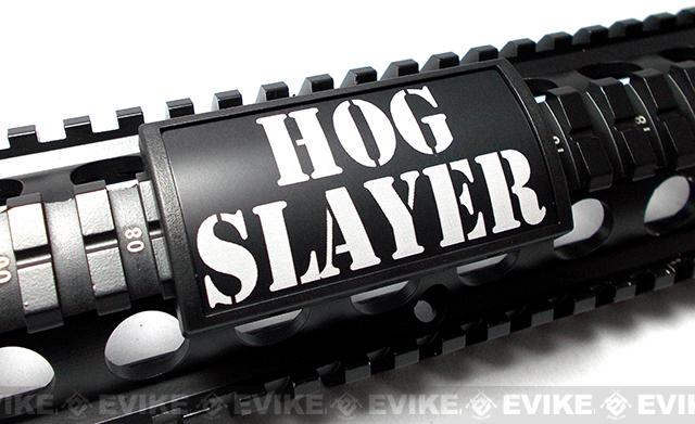 Custom Gun Rails (CGR) Large Laser Engraved Aluminum Rail Cover - Hog Slayer
