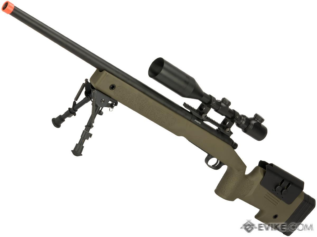 PDI Custom S&T USMC M40A3 Bolt Action Airsoft Sniper Rifle w/ PDI Internals (Model: Desert)