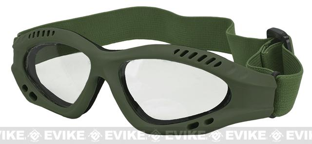 Avengers Zero Tactical Shooting Range / Target Practice Goggles (Color: OD Green)