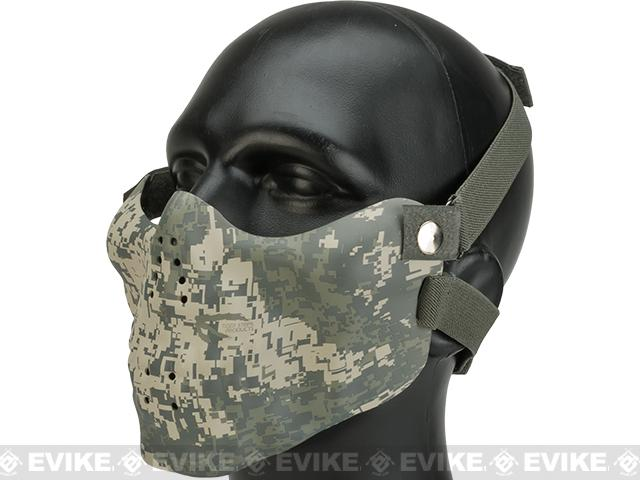 Matrix Iron Face Skull Imprint Nylon Lower Half Mask (Color: ACU)