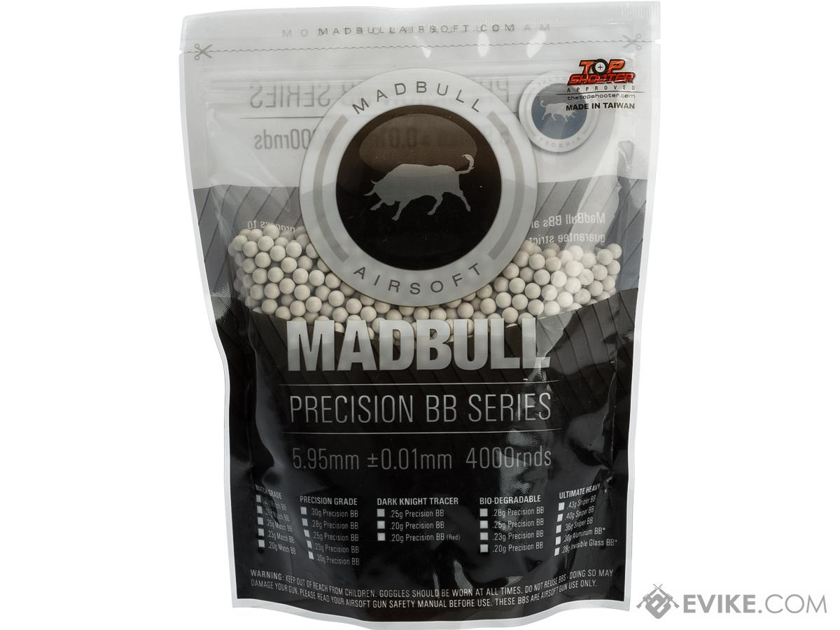 Madbull Airsoft 6mm Biodegradable .20g Precision BB (Qty: 4000 - White)