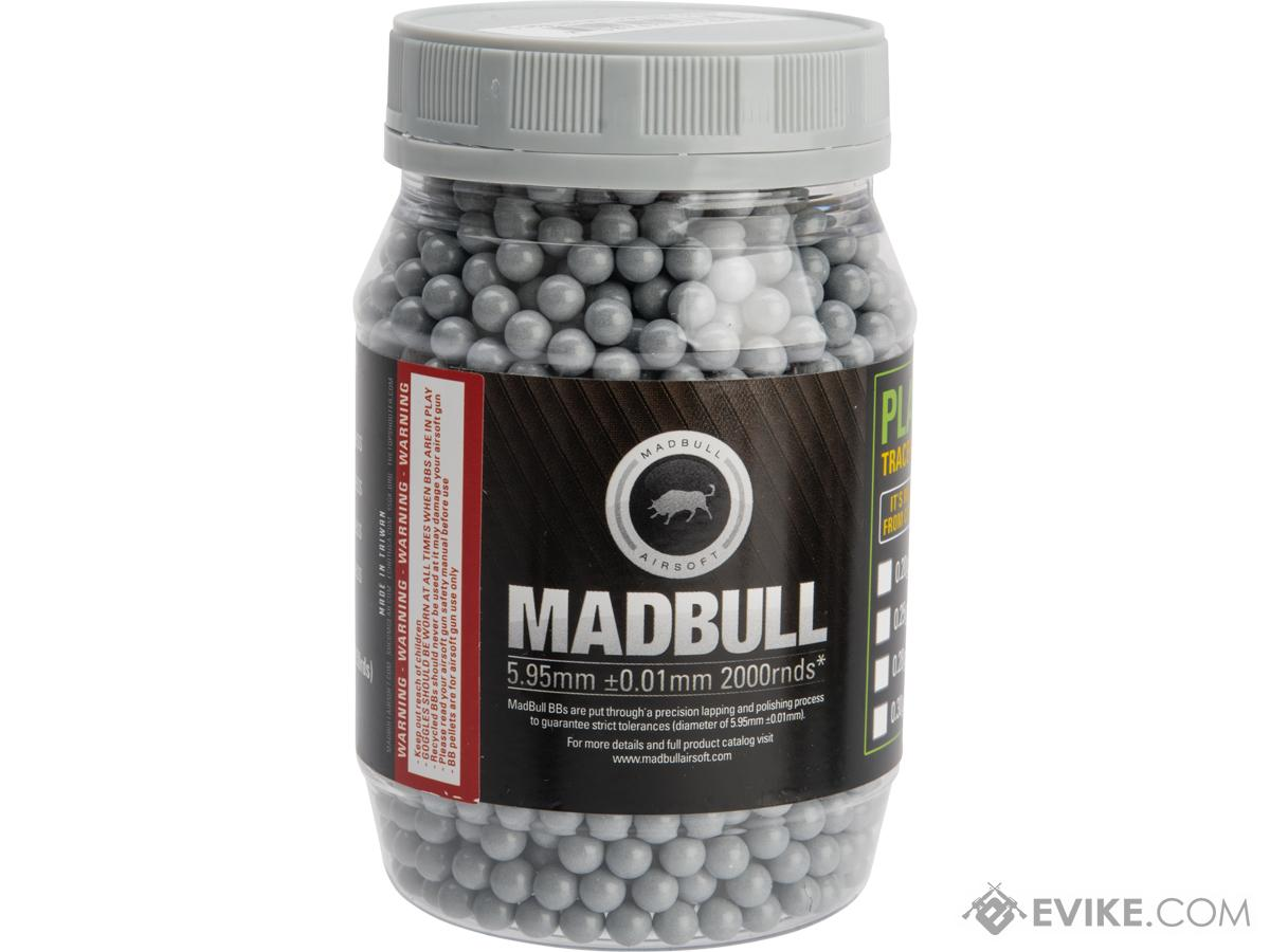 MadBull Ultimate Match Grade Heavy Weight 6mm Airsoft Sniper BB (Model: .38g Stainless Grey / 2000rd Bottle)