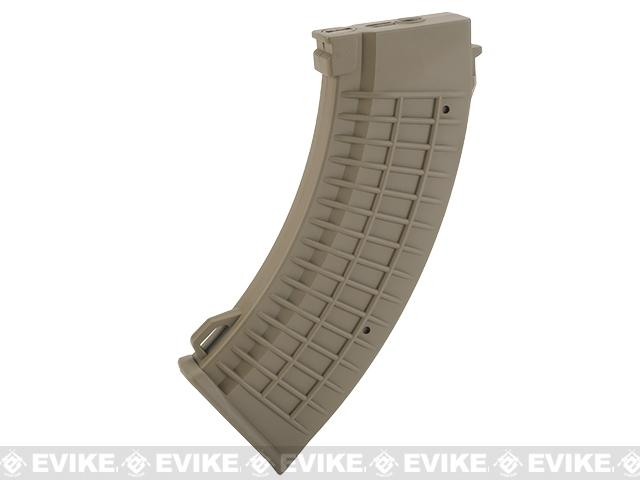 King Arms AK 110 rounds Thermal Style Mid-Cap Magazine (Color: Dark Earth / One Magazine)